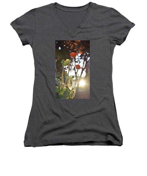 Monday Morning Sunrise Women's V-Neck T-Shirt