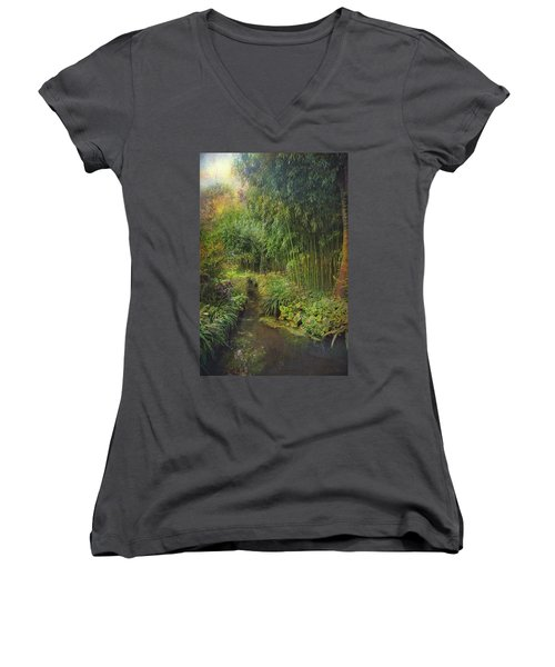 Monets Paradise Women's V-Neck (Athletic Fit)