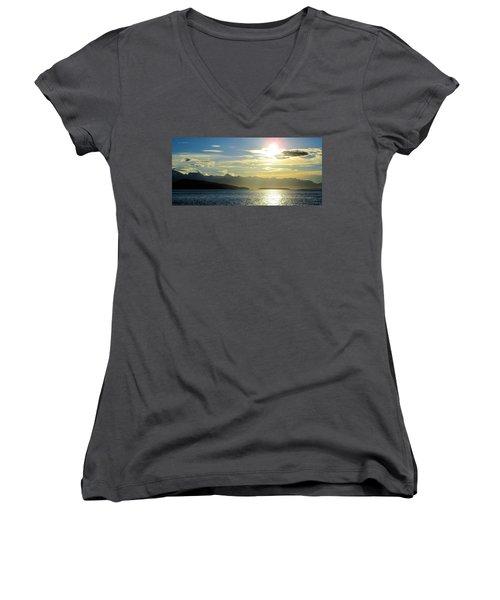 Monica Women's V-Neck T-Shirt (Junior Cut) by Martin Cline