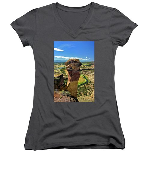 Monkey Face Women's V-Neck T-Shirt