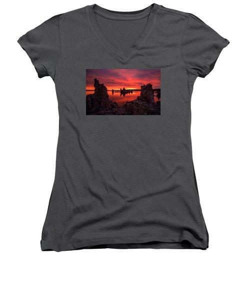 Mono Blaze Women's V-Neck T-Shirt (Junior Cut) by Bjorn Burton