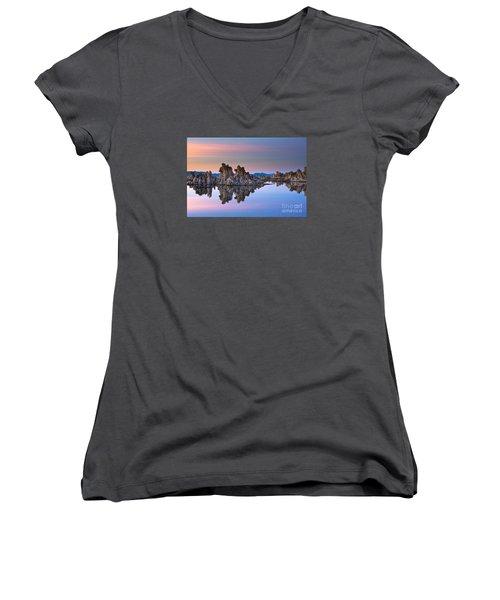 Mono Lake #2 Women's V-Neck (Athletic Fit)