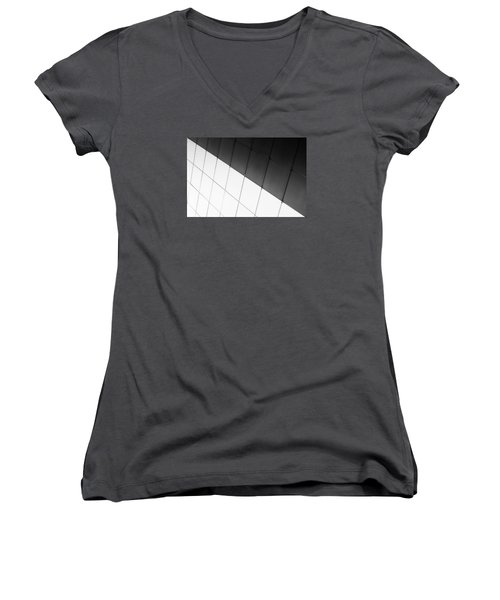 Monochrome Building Abstract 3 Women's V-Neck (Athletic Fit)