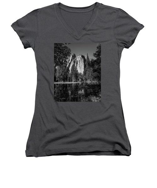 Monolith Women's V-Neck T-Shirt (Junior Cut) by Ryan Weddle