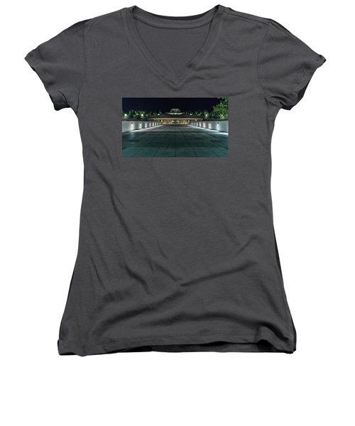 Monona Terrace Women's V-Neck T-Shirt (Junior Cut)
