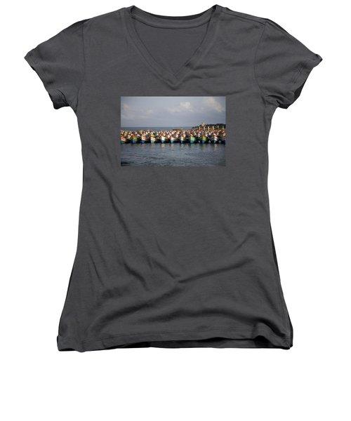 Monsoon Mooring Women's V-Neck T-Shirt