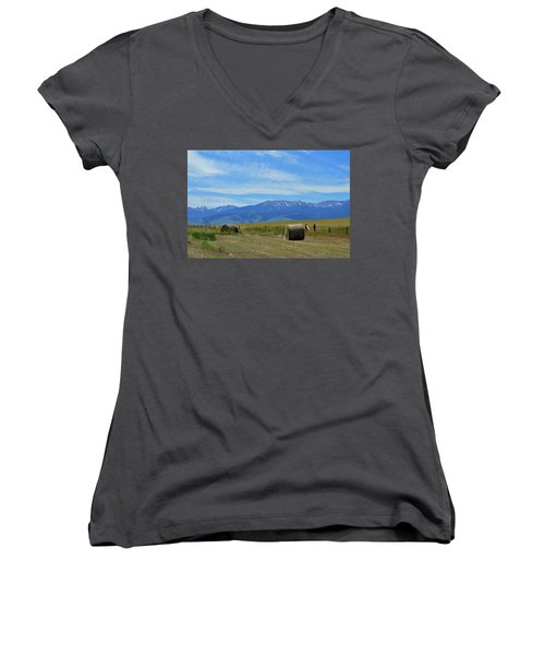 Montana Scene Women's V-Neck (Athletic Fit)