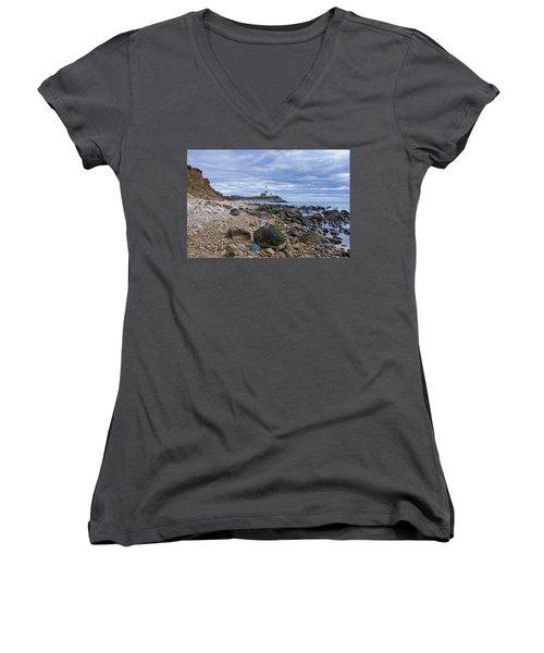 Montauk Lighthouse Women's V-Neck T-Shirt