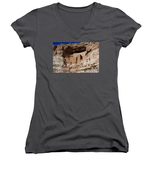 Montezuma Castle Women's V-Neck (Athletic Fit)