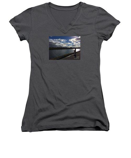 Montreal Memories Women's V-Neck T-Shirt