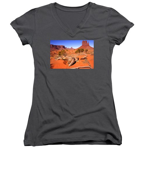 Monument Valley, Arizona, U S A Women's V-Neck (Athletic Fit)