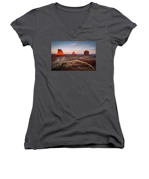 Monument Valley Sunset Women's V-Neck