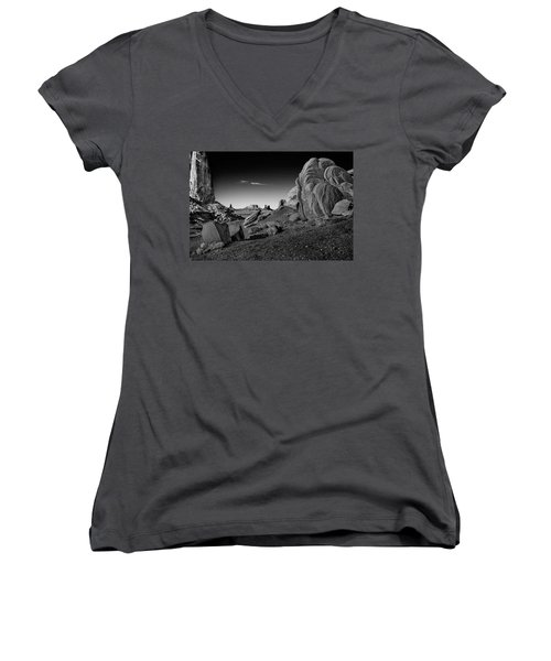 Monument Valley Rock Formations Women's V-Neck (Athletic Fit)