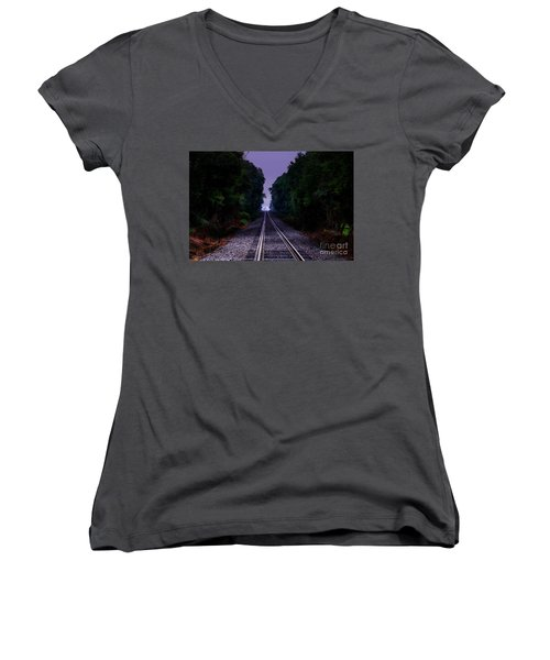 Moon And Steel Women's V-Neck T-Shirt