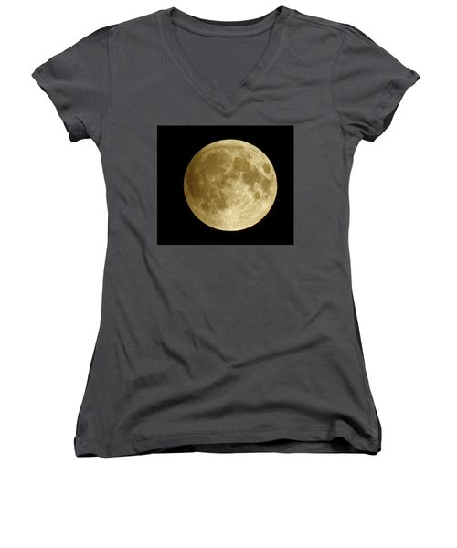 Moon During Eclipse Women's V-Neck