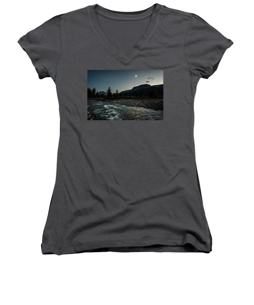 Moon Over Montana Women's V-Neck