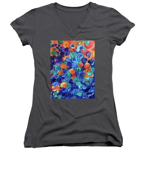 Moon Snails Back To School Women's V-Neck (Athletic Fit)