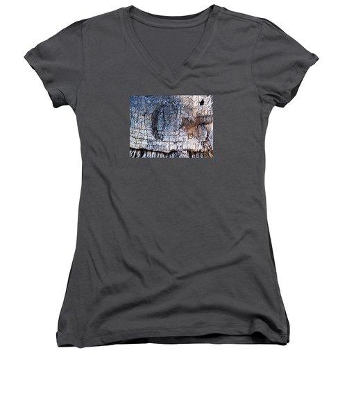 Moon Women's V-Neck T-Shirt (Junior Cut) by Vanessa Palomino