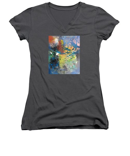 Moonglow Women's V-Neck T-Shirt (Junior Cut) by Becky Chappell