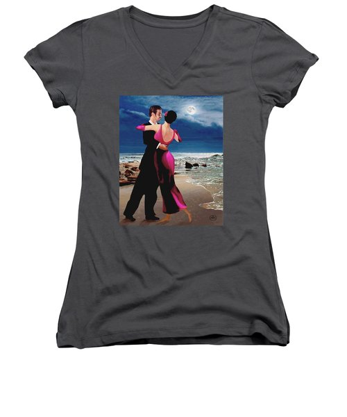 Moonlight Dance Women's V-Neck (Athletic Fit)