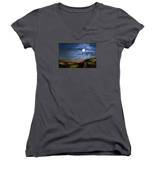 Moonlight Path Women's V-Neck (Athletic Fit)