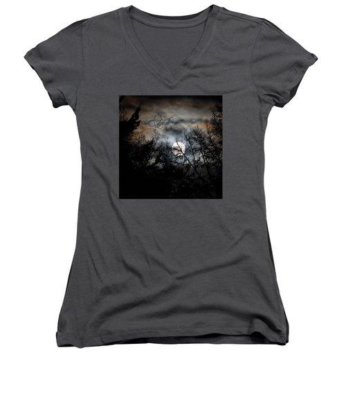 Moonlite Ride Women's V-Neck T-Shirt