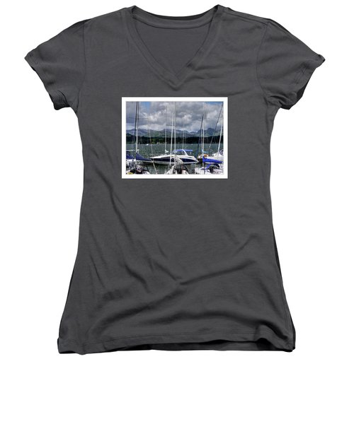 Moored In Beauty Women's V-Neck T-Shirt