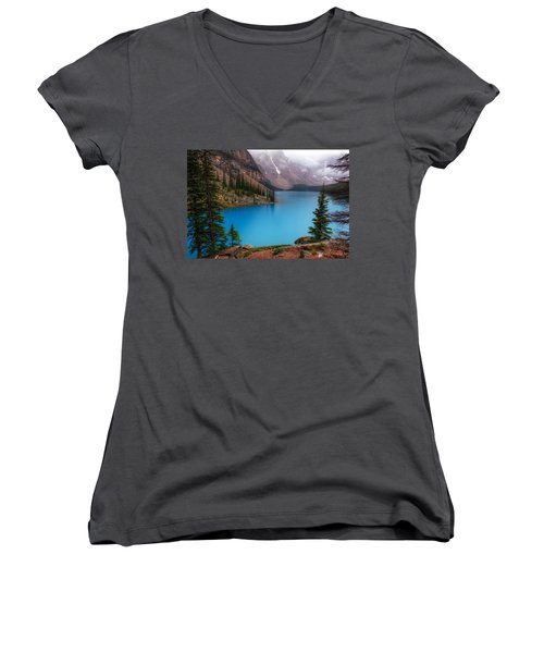 Moraine Lake Women's V-Neck (Athletic Fit)