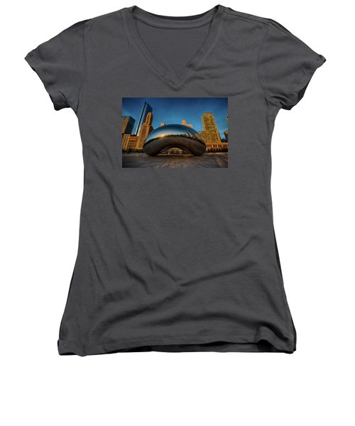 Morning Bean Women's V-Neck T-Shirt (Junior Cut)