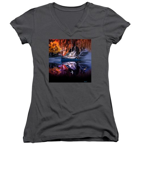Morning Coffee Women's V-Neck T-Shirt (Junior Cut) by J Griff Griffin