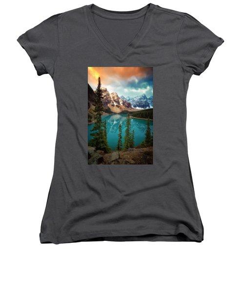 Morning Eruption  Women's V-Neck T-Shirt