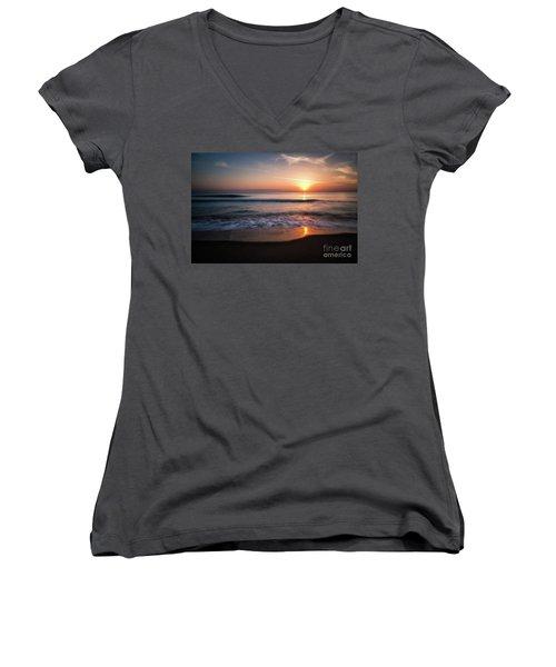 Morning Fire Women's V-Neck T-Shirt (Junior Cut) by Giuseppe Torre
