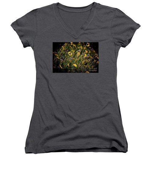Morning Flowers Women's V-Neck T-Shirt (Junior Cut) by Kelly Wade