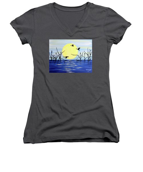 Morning Geese Women's V-Neck