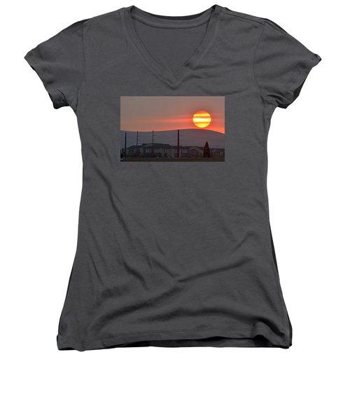 Morning Has Broken Women's V-Neck T-Shirt (Junior Cut) by AJ Schibig