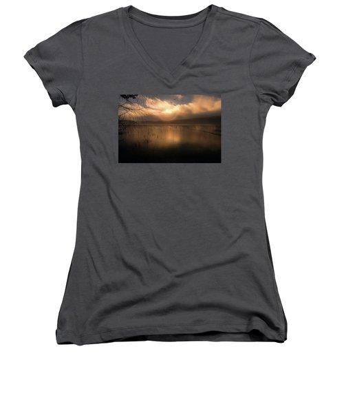 Morning Has Broken Women's V-Neck T-Shirt (Junior Cut) by Rose-Marie Karlsen