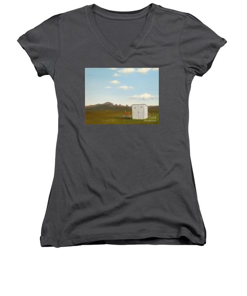 Morning In Montana Women's V-Neck (Athletic Fit)