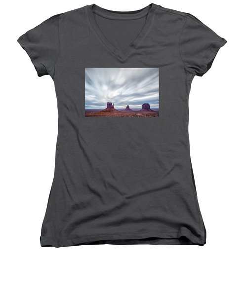 Morning In Monument Valley Women's V-Neck (Athletic Fit)