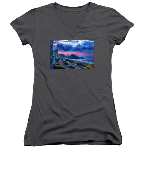 Morning In Rio Women's V-Neck (Athletic Fit)