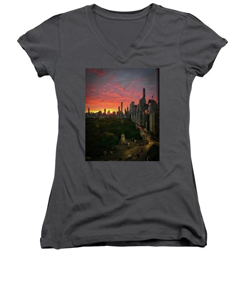 Morning In The City Women's V-Neck