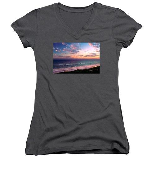 Morning Light On Rosemary Beach Women's V-Neck T-Shirt (Junior Cut) by Marie Hicks