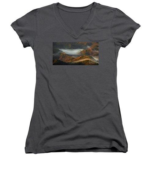 Morning Light Women's V-Neck T-Shirt
