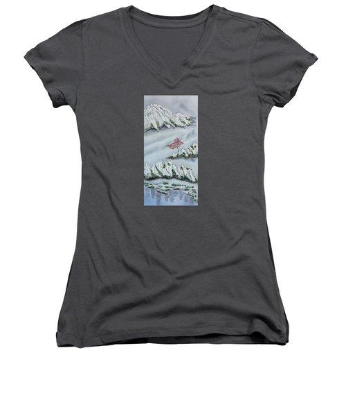 Morning Mist 3 Women's V-Neck T-Shirt