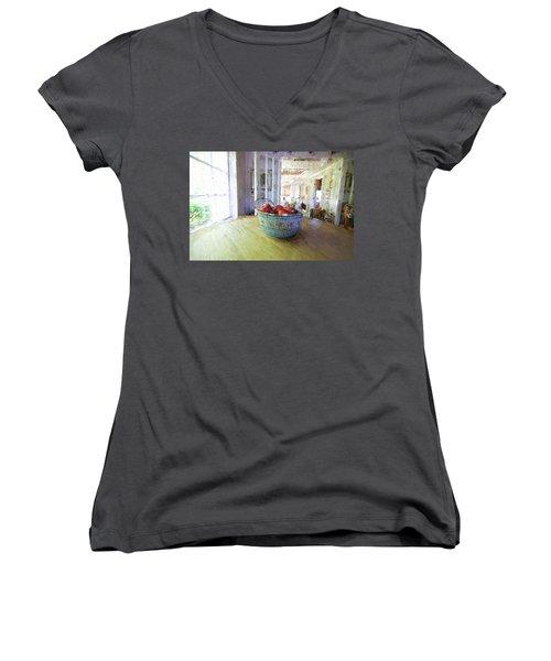 Morning On The Farm Women's V-Neck T-Shirt