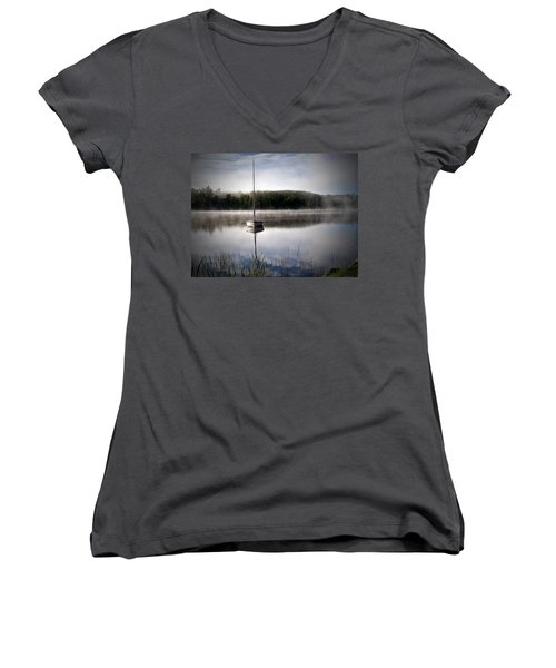 Morning On White Sand Lake Women's V-Neck