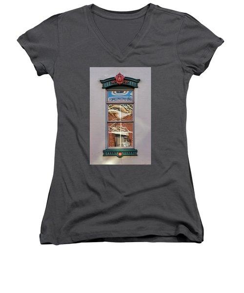 Morning Reflection In Window Women's V-Neck T-Shirt