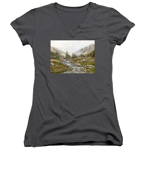 Morning Rising Fog Women's V-Neck T-Shirt