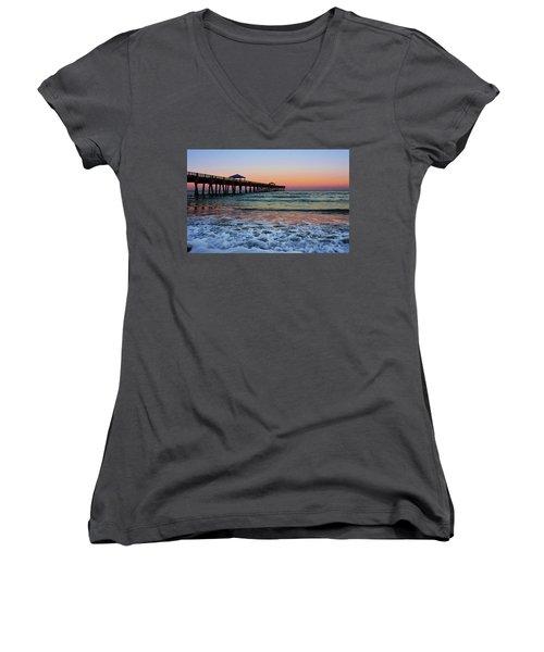 Morning Rush Women's V-Neck T-Shirt (Junior Cut) by Laura Fasulo