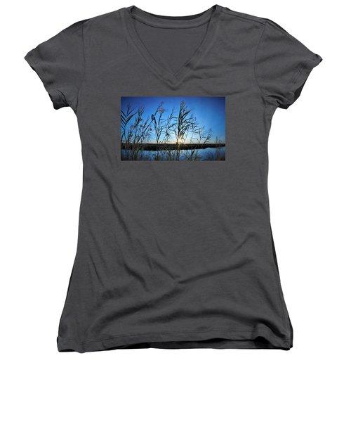 Women's V-Neck T-Shirt (Junior Cut) featuring the photograph Good Day Sunshine by John Glass