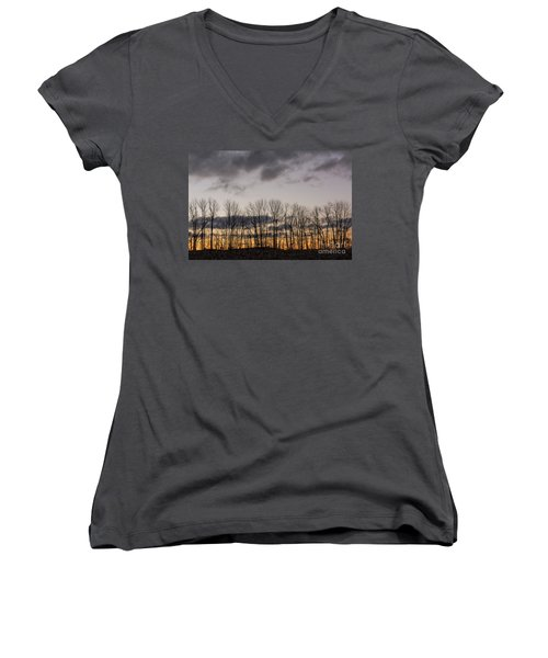 Morning Sky Women's V-Neck T-Shirt (Junior Cut) by Nicki McManus